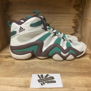 Adidas crazy 8 green white purple sneakers shoes